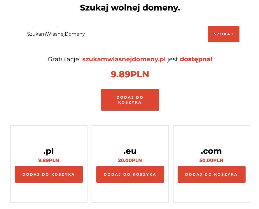 Rejestracja domeny w Kru.pl