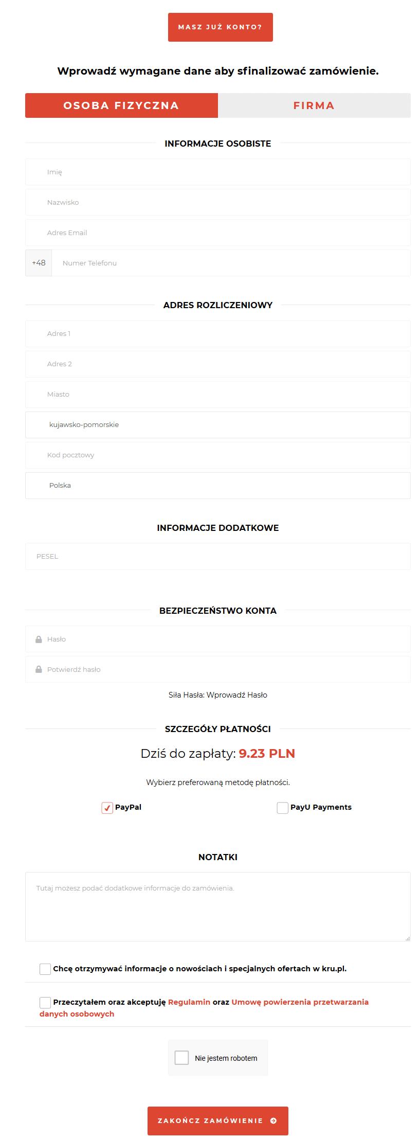 Zamawianie monitoringu stron WWW w Kru.pl