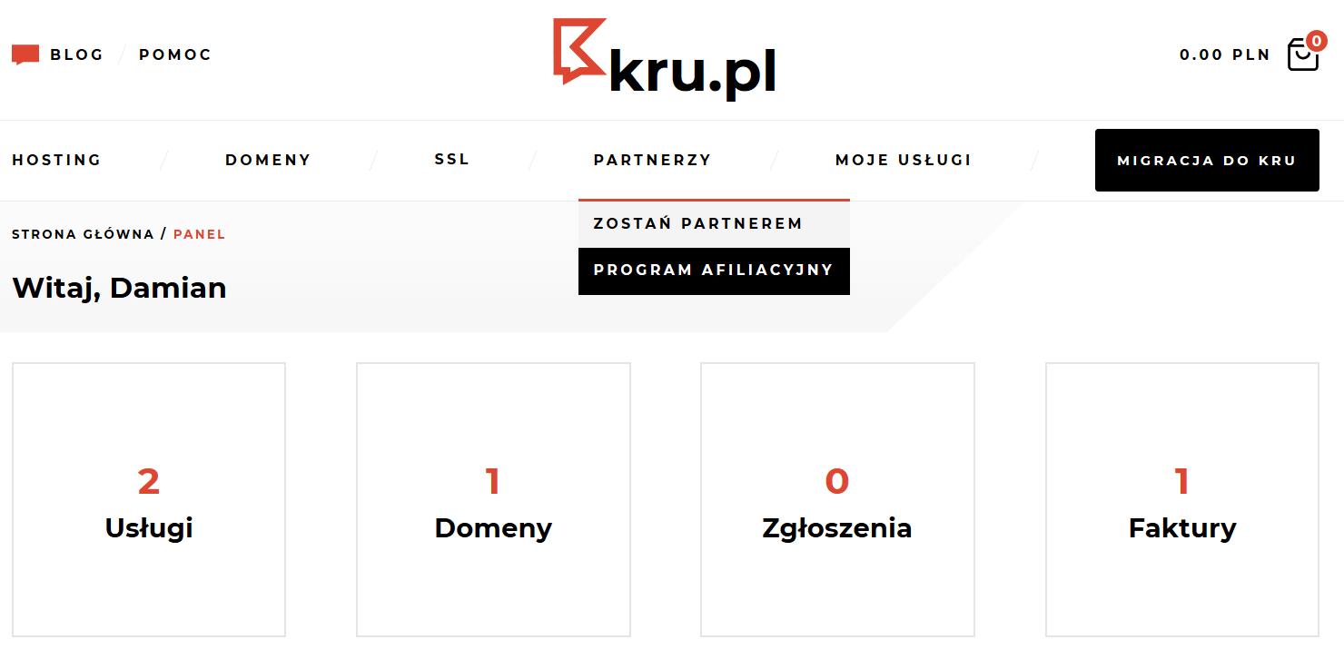 Przystąpienie do programu afiliacyjnego w Kru.pl