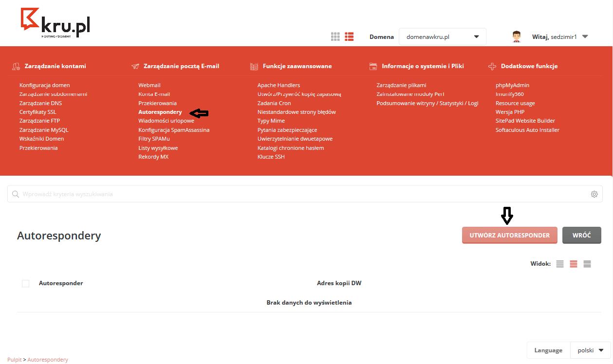 Tworzenie autorespondera do wiadomości e-mail