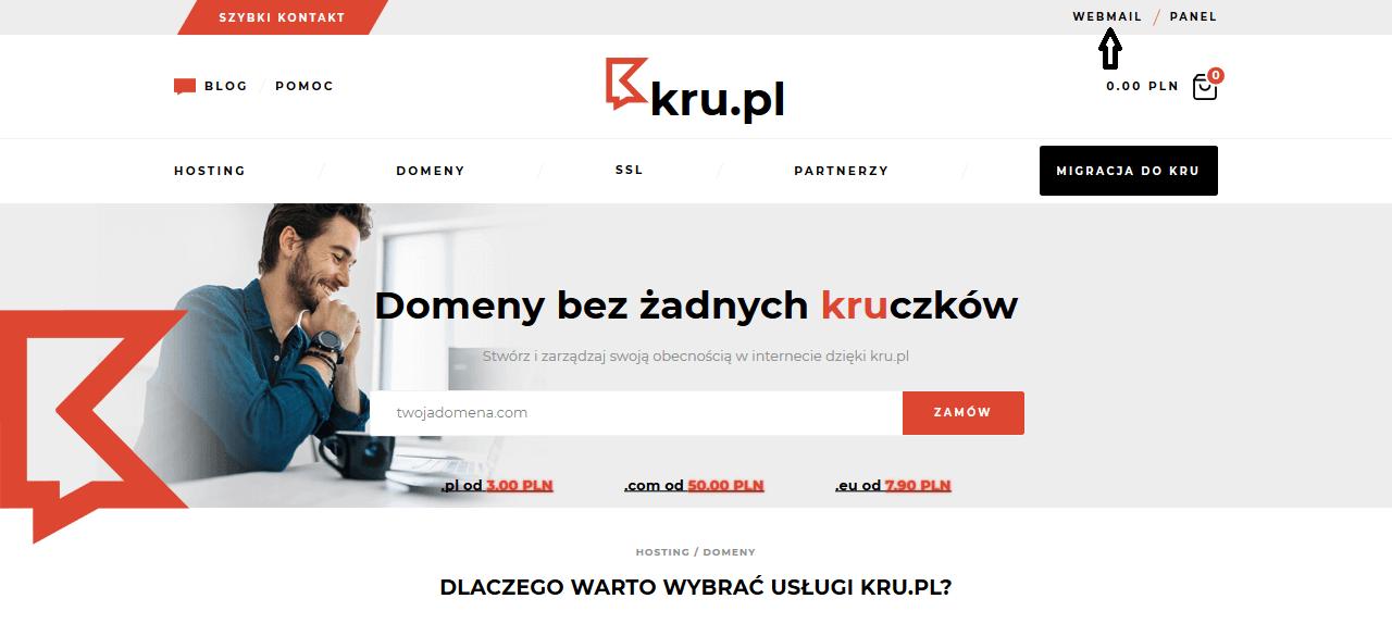 Logowanie do skrzynki pocztowej w Kru.pl