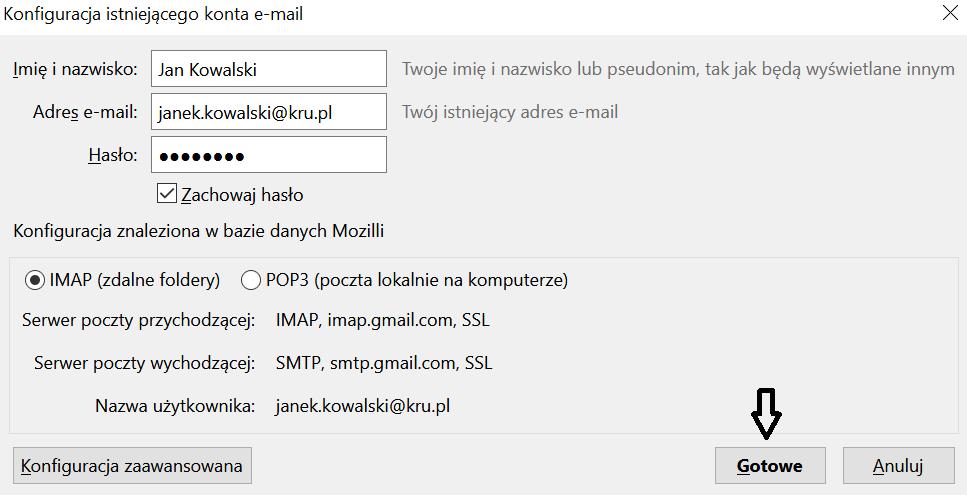 Konfiguracja e-mail w Thunderbird