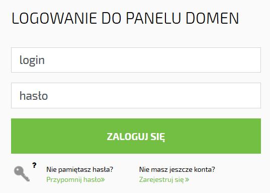 Kod Authinfo dla domena.pl