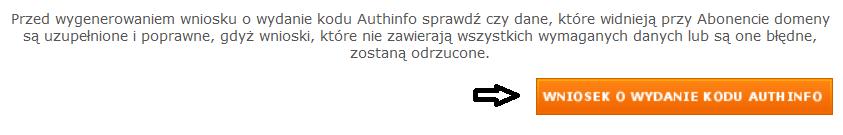 Kod AuthInfo nazwa.pl