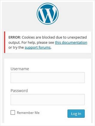 Pliki ciasteczek zostały zablokowanie komunikat WordPress
