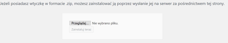 Instalacja wtyczki WordPress w formacie zip