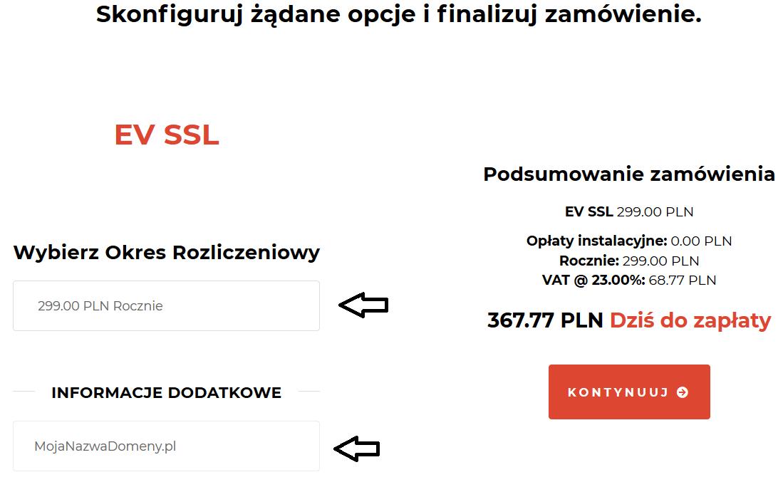 Zamawianie certyfikatu SSL w Kru.pl